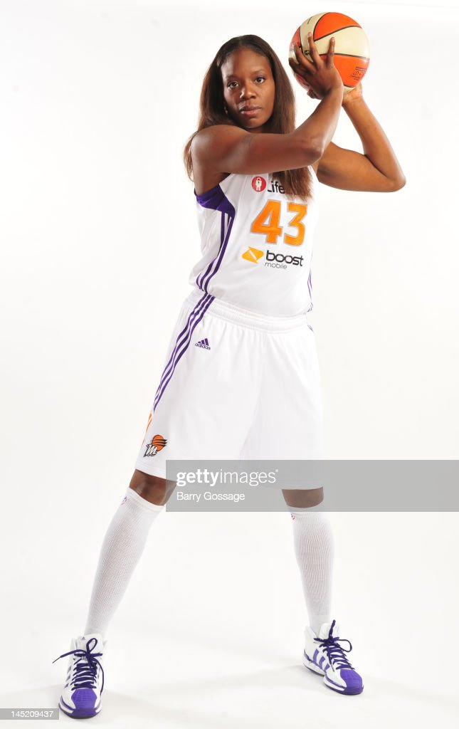 Nakia Sanford of the Phoenix Mercury poses for a portrait during Phoenix Mercury Media Day on May 16 2012 at US Airways Center in Phoenix Arizona...