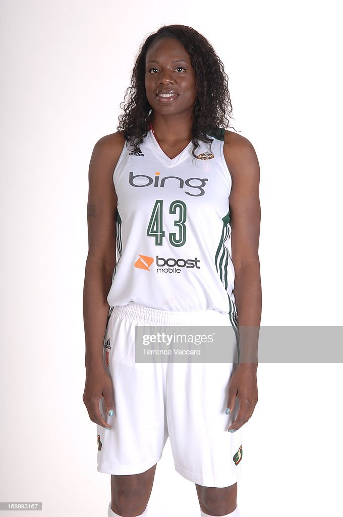 Nakia Sanford of the Seattle Storm poses for a photo during WNBA Media Day on May 14 2013 at Key Arena in Seattle Washington NOTE TO USER User...