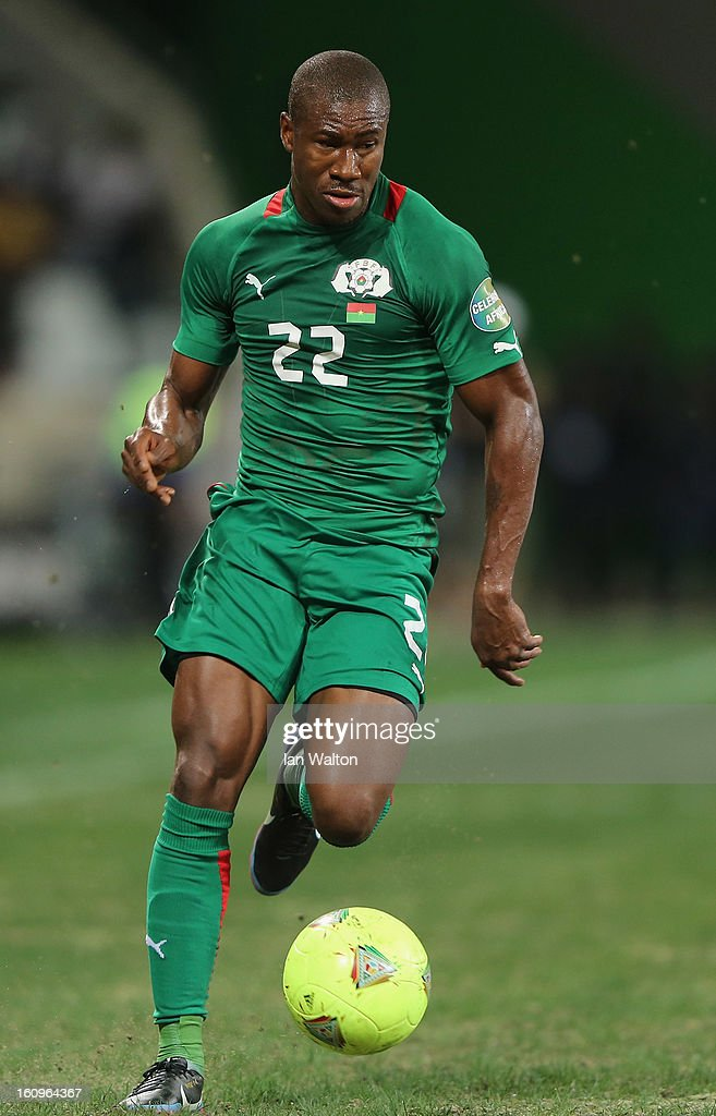 Nakoulma N.Prejuce of Burkina Faso in action during the 2013 Africa Cup of Nations Semi-Final match between Burkina Faso and Ghana at the Mbombela Stadium on February 6, 2013 in Nelspruit, South Africa.