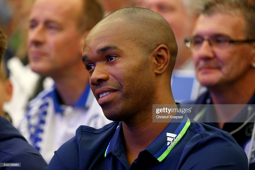 Naldo attends during the FC Schalke 04 general assembly at Veltins Arena on June 26, 2016 in Gelsenkirchen, Germany.