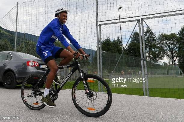 Naldo of Schalke controls the ball during the Training Camp of FC Schalke 04 on July 29 2017 in Mittersill Austria