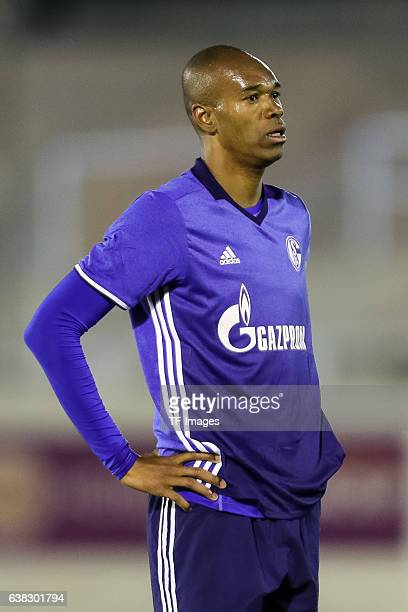 Naldo of Schalke looks on during the friendly match between FC Schalke 04 v KV Oostende Friendly Match at Estadio Municipal Guillermo Amor on January...