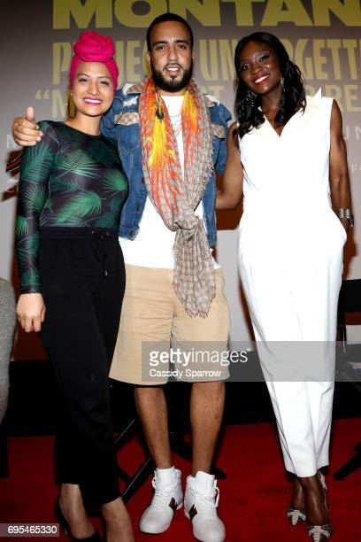 Nalie Agustin French Montana and Lola Ogunnaike attend French Montana PROJECT UNFORGETTABLE 'MY STORY THEIR REALITY' Documentary Screening and...