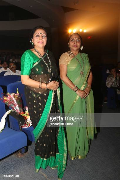 Nalini and Kamalini Asthana during the UMAK festival at Indian Council for Cultural Relations on May 27 2017 in New Delhi India The dance performance...