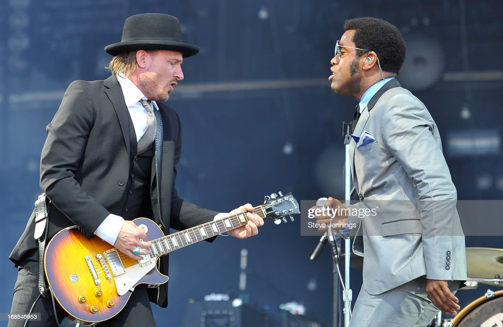 Nalle Colt and Ty Taylor (L-R) of Vintage Trouble perform on Day 2 of Bottle Rock Napa Valley Festival at Napa Valley Expo on May 10, 2013 in Napa, California.
