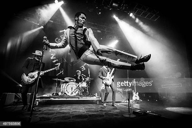 Nalle Colt Rick Barrio Dill Ty Taylor and Richard Danielson of Vintage Trouble perform at The Forum on November 17 2015 in London England