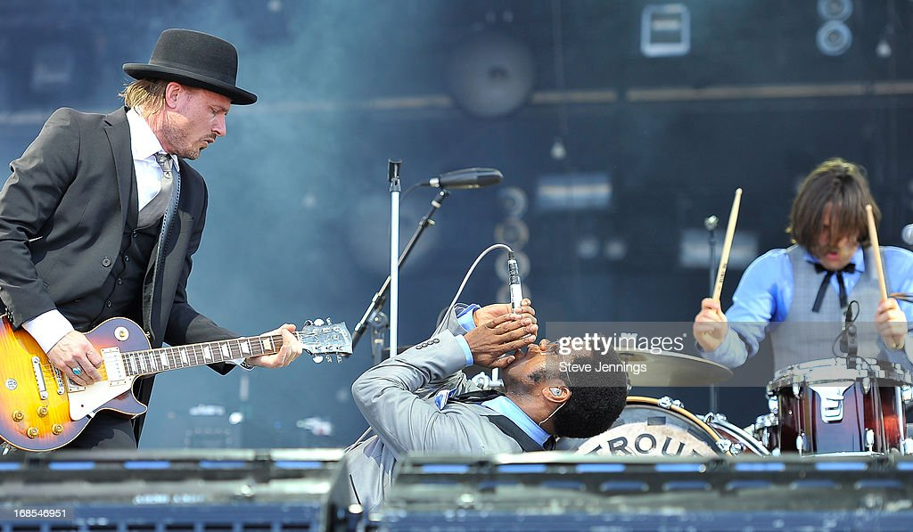 Nalle Colt, Ty Taylor and Richard Danielson (L-R) of Vintage Trouble perform on Day 2 of Bottle Rock Napa Valley Festival at Napa Valley Expo on May 10, 2013 in Napa, California.