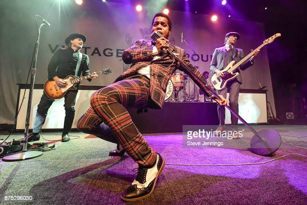 Nalle Colt Ty Taylor and Rick Barrio Dill of Vintage Trouble perform at The Fillmore on November 16 2017 in San Francisco California