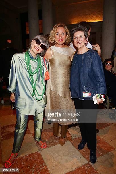 Nally Bellati Giovanna Melandri and Maria Luisa Frisaattends the opening of Fondazione Prada's Exhibition 'Art Or Sound' on June 4 2014 in Venice...