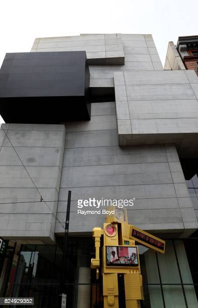 Nam June Paik's 'Metrobot' sculpture sits outside Zaha Hadid's Rosenthal Center For Contemporary Art in Cincinnati Ohio on July 22 2017 MANDATORY...