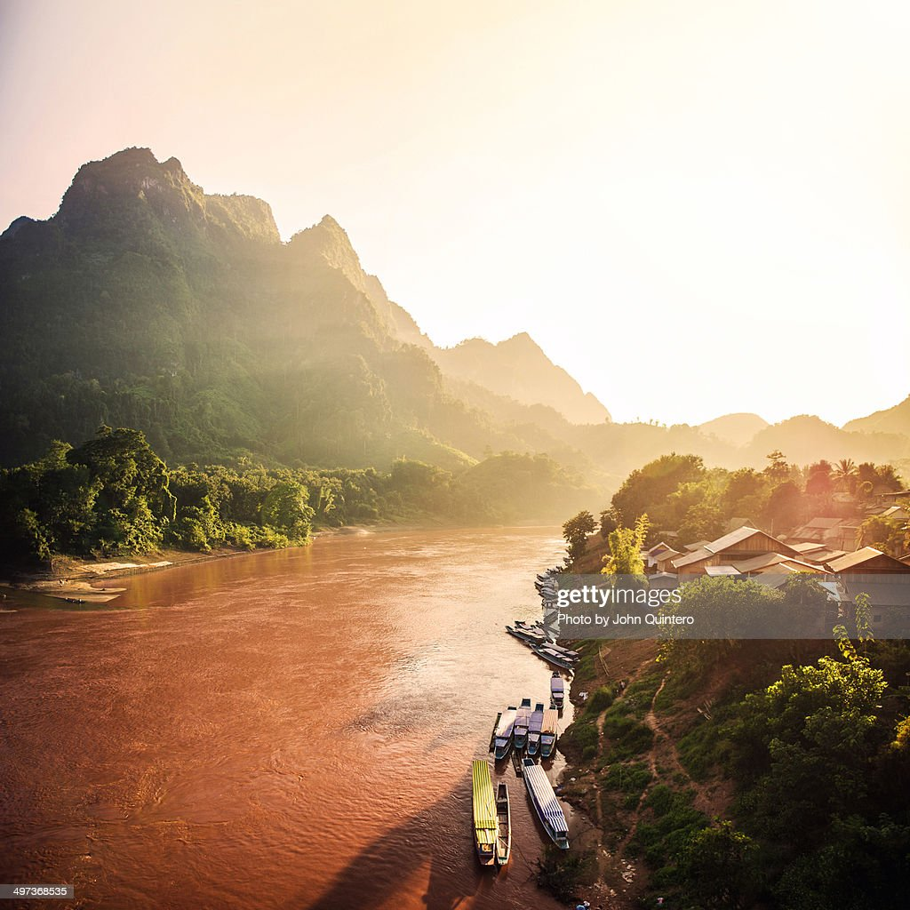 Nam Ou River : Foto de stock
