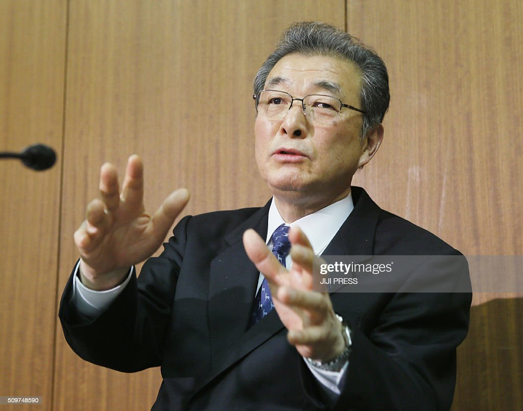 Nam Sung-U, vice president of the General Association of Korean Residents in Japan, speaks during a press briefing at their headquarters in Tokyo on February 12, 2016. The de facto North Korean embassy in Japan on February 12 condemned Tokyo's fresh sanctions against Pyongyang, saying they violate a separate deal linked to the abduction of Japanese by North Korean spies decades ago. JAPAN OUT AFP PHOTO / JIJI PRESS / AFP / JIJI PRESS / JIJI PRESS