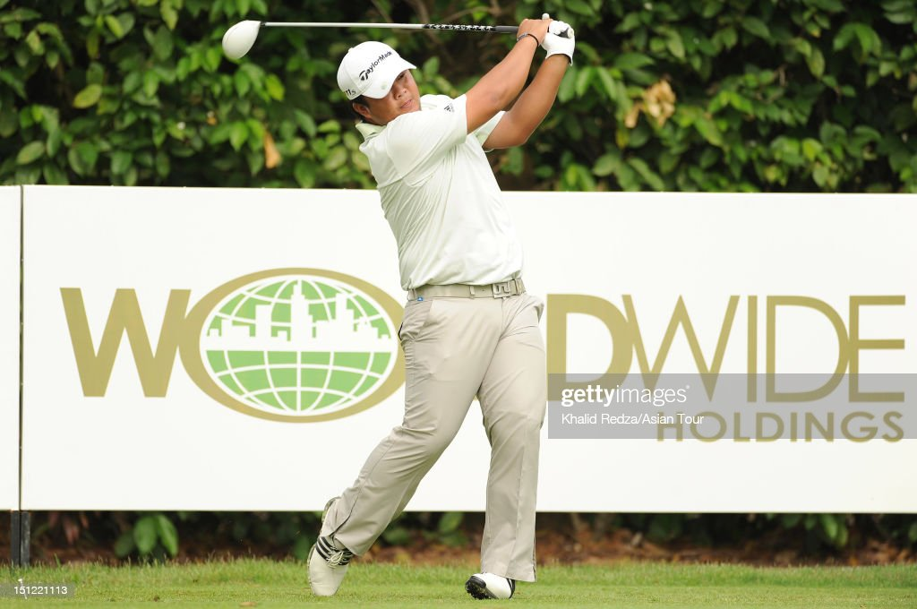 Namchok Tantipokhakul of Thailand in action during previews ahead of the Worldwide Holdings Selangor Masters at Kota Permai Golf and Country Club on September 4, 2012 in Shah Alam, Selangor, Malaysia.