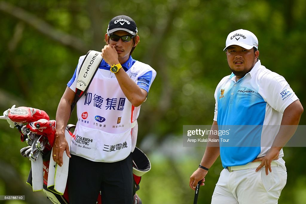 Namchok Tantipokhakul of Thailand pictured during the round 1 of the Yeangder Tournament Players Championship at Linkou International Golf Club on June 30, 2016 in Taipei, Taiwan.