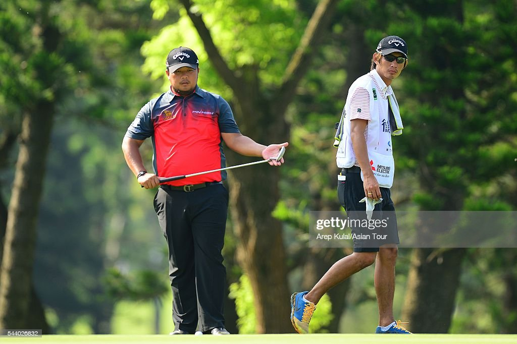 Namchok Tantipokhakul of Thailand pictured during the round 2 of the Yeangder Tournament Players Championship 2016 at Linkou International Golf Club on July 1, 2016 in Taipei, Taiwan.