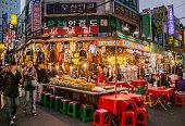 Namdaemun Market alfresco restaurant