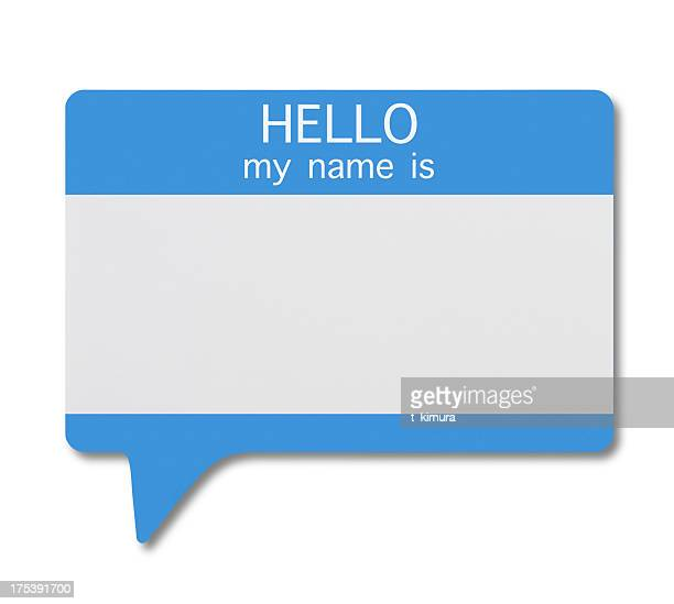 Name Tag(Speech Bubble)