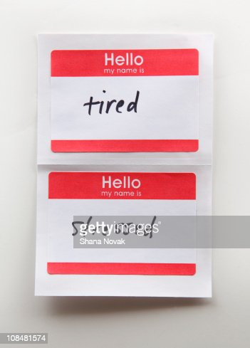Name Tags : Stock Photo