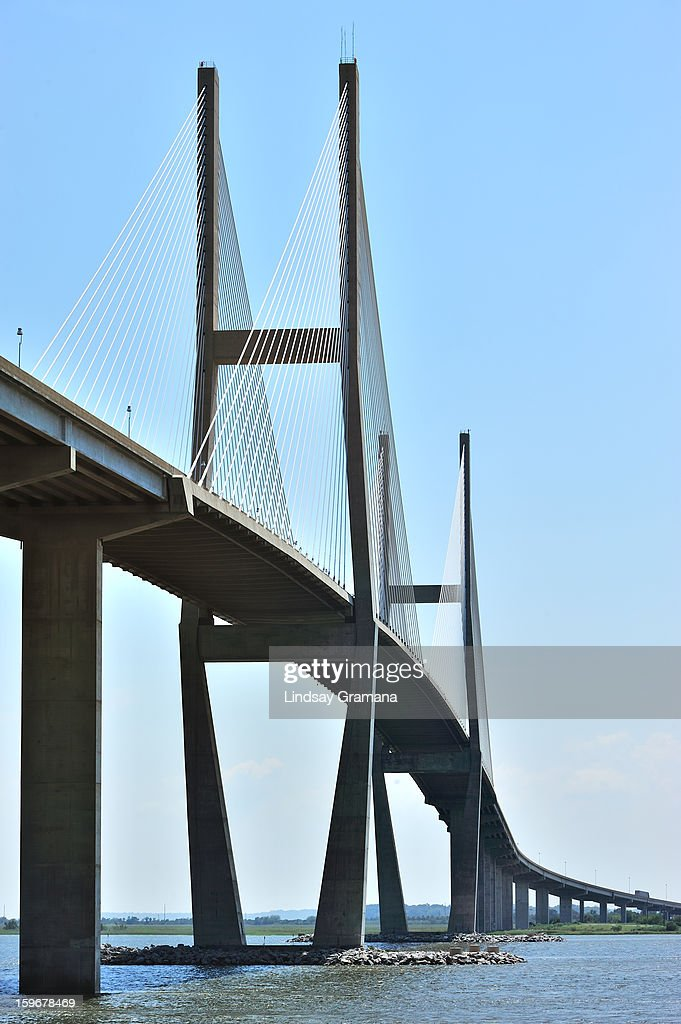 CONTENT] Named for the Georgia-born poet and musician, the Sidney Lanier Bridge was built across the South Brunswick River in 2003 to replace the original lift bridge with the same name. It is one of the few cable-stayed bridges in the United States with a harp stay arrangement, in which the cables are nearly parallel to one another.
