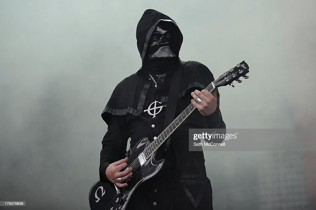 Nameless Ghoul of Ghost BC performs as part of Lollapalooza 2013 at Grant Park on August 2 2013 in Chicago Illinois