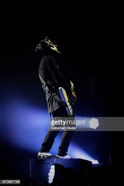 Nameless Ghoul of Ghost performs at Huxleys Neue Welt on April 25 2017 in Berlin Germany