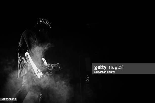 A Nameless Ghoul of Ghost performs at Huxleys Neue Welt on April 25 2017 in Berlin Germany