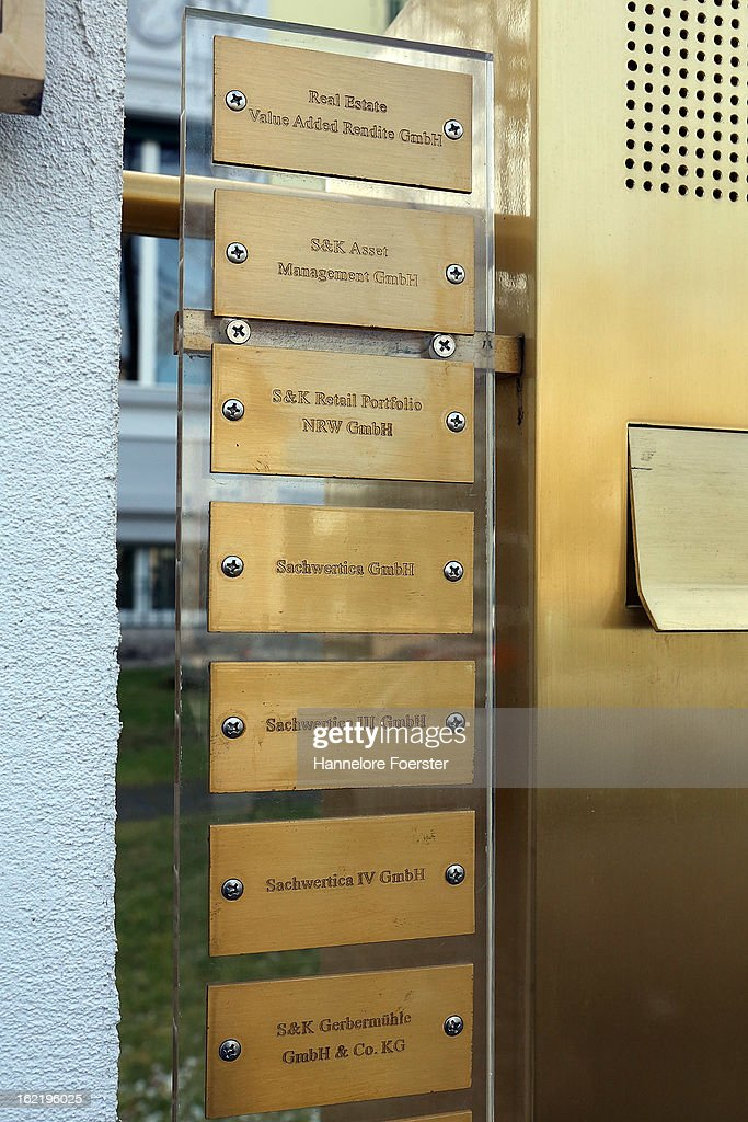 A nameplate at the headquarters of the S&K investment group is displayed the day after police raided the company's offices on February 20, 2013 in Frankfurt, Germany. Police made six arrests across Germany and state prosecutors are charging that the company has swindled investors out of investments totaling over one hundred million Euros. At least one of the company's founders, Jonas Koeller and Stephan Schaefer, was among those arrested yesterday.