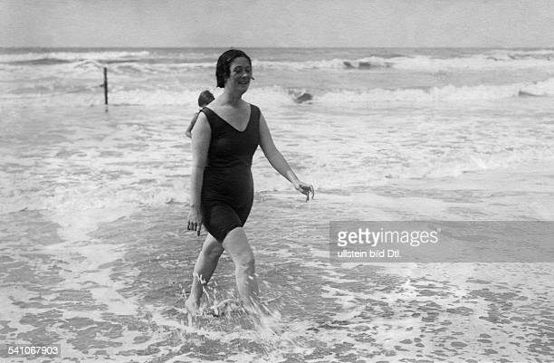 ISADORA DUNCAN /nAmerican dancer Photographed in 1914 at Viareggio Italy shortly after the drowning of one of her children