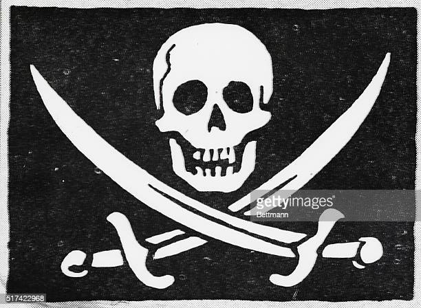 Names of various owners identify the Jolly Rogers shown The pirate's usual black flag and death's head was called a Roger Undated Photo