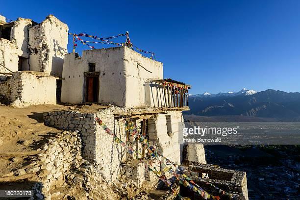 LADAKH LEH JAMMU KASHMIR INDIA Namgyal Tsemo Gompa founded 1430 by King Tashi Namgyal has a threestory high gold idol of Maitreya Buddha and is...