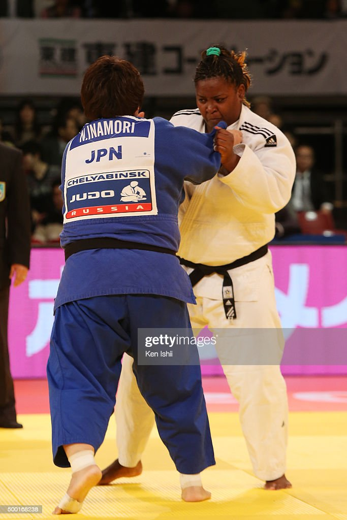 Nami Inamori of Japan (blue) and <a gi-track='captionPersonalityLinkClicked' href=/galleries/search?phrase=Idalys+Ortiz&family=editorial&specificpeople=5492242 ng-click='$event.stopPropagation()'>Idalys Ortiz</a> of Cuba compete in the Women' +78kg final at Tokyo Metropolitan Gymnasium on December 6, 2015 in Tokyo, Japan.