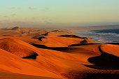 Namib dunes in sunset