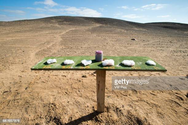 Namibia Africa Salt crystals for sale along the road