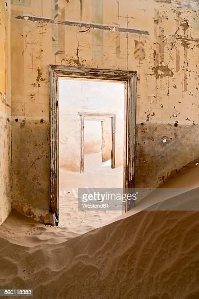 Namibia, inside a house of diamond ghost town Kolmanskop