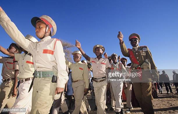 Namibia, Okahandja, Herero tribe procession to honour fallen chiefs