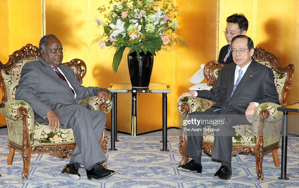 Namibia President <a gi-track='captionPersonalityLinkClicked' href=/galleries/search?phrase=Hifikepunye+Pohamba&family=editorial&specificpeople=863215 ng-click='$event.stopPropagation()'>Hifikepunye Pohamba</a> (L) and Japanese Prime Minister <a gi-track='captionPersonalityLinkClicked' href=/galleries/search?phrase=Yasuo+Fukuda&family=editorial&specificpeople=2664316 ng-click='$event.stopPropagation()'>Yasuo Fukuda</a> (R) talk during their meeting on the sidelines of the Tokyo International Conference on African Development (TICAD IV) at Pacifico Yokohama on May 28, 2008 in Yokohama, Kanagawa, Japan.