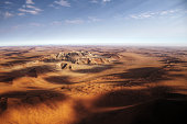 Namibian sand dunes view from plane