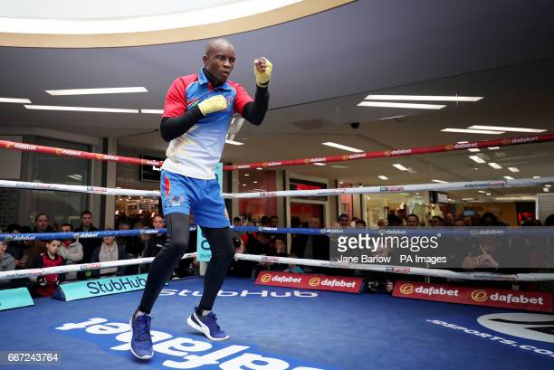Namibia's Julius Indongo during the public workout at St Enoch's Centre Glasgow