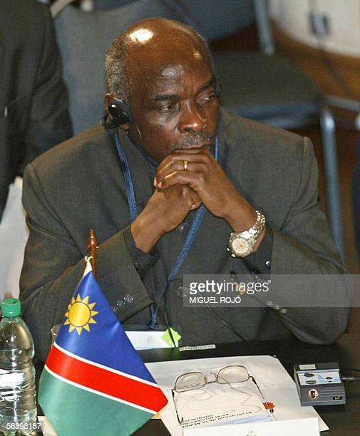 Namibia's Prime Minister Nahas Angula attends the opening ceremony of the XXIX Mercosur Summit in Montevideo 09 December 2005 during which is...