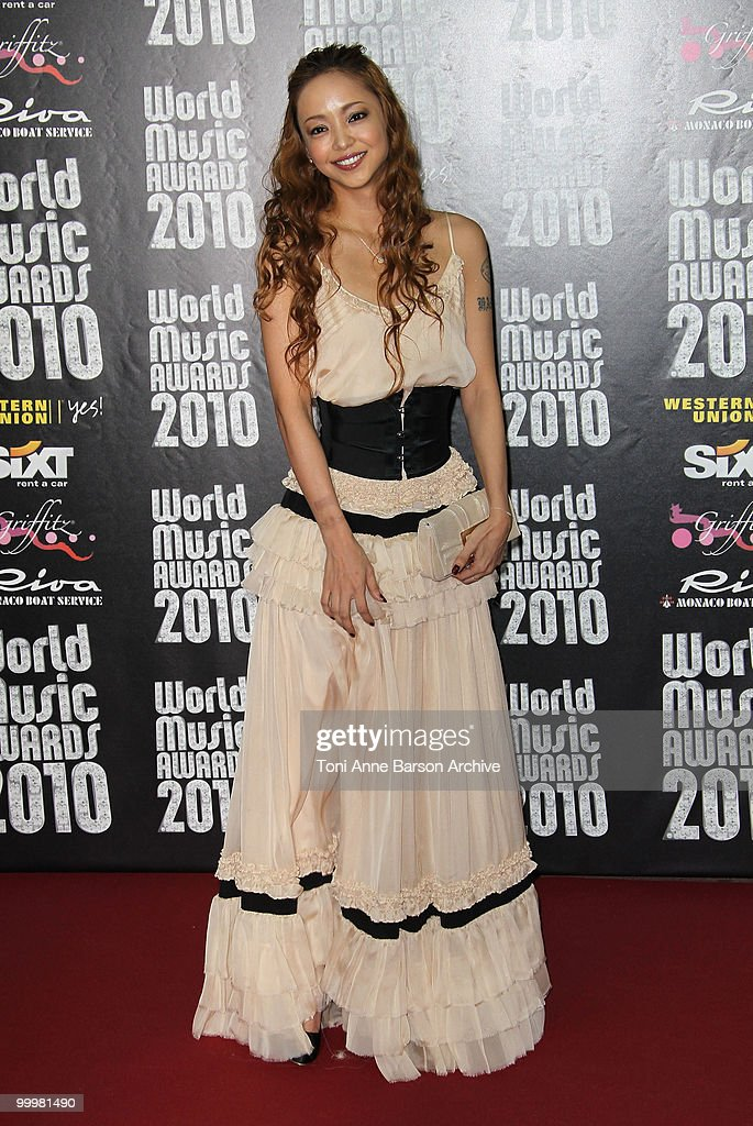 Namie Amuro attends the World Music Awards 2010 at the Sporting Club on May 18, 2010 in Monte Carlo, Monaco.