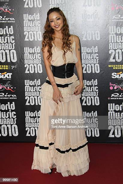 Namie Amuro attends the World Music Awards 2010 at the Sporting Club on May 18 2010 in Monte Carlo Monaco