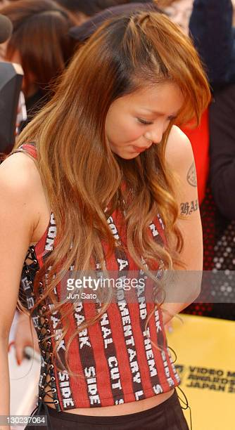 Namie Amuro during 2004 MTV Video Music Awards Japan Arrivals at Tokyo Bay NK Hall in Tokyo Japan