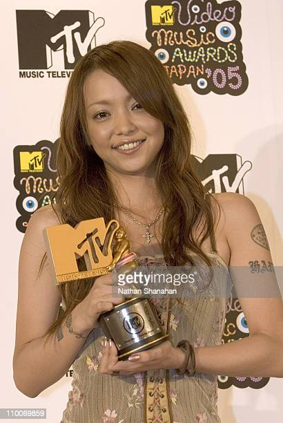Namie Amuro during MTV Video Music Awards Japan 2005 Press Room at Tokyo Bay NK Hall in Urayasu Japan