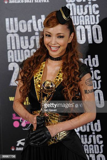 Namie Amuro during the World Music Awards 2010 at the Sporting Club on May 18 2010 in Monte Carlo Monaco