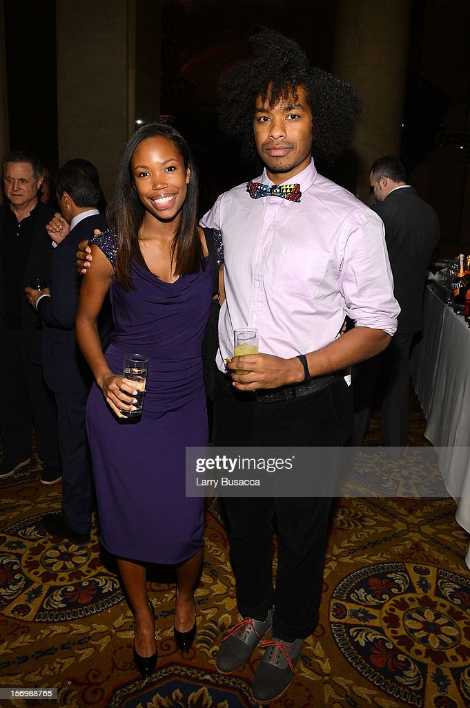 Namik Minter (L) and Terence Nance attend the IFP's 22nd Annual Gotham Independent Film Awards at Cipriani Wall Street on November 26, 2012 in New York City.