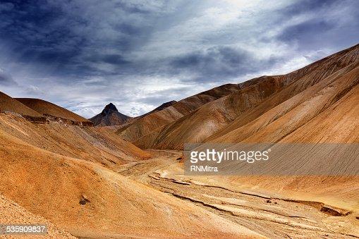Namika La, Passo de montanha de Ladakh de Jammu e Caxemira, Índia : Foto de stock