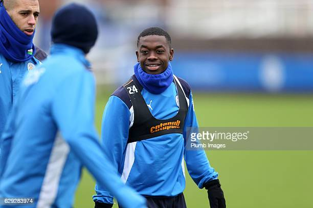 Nampalys Mendy during the Leicester City training session at Belvoir Drive Training Complex on December 12 2016 in Leicester United Kingdom