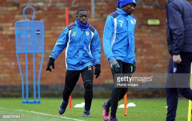 Nampalys Mendy during the Leicester City training session at Belvoir Drive Training Complex on January 30 2017 in Leicester United Kingdom