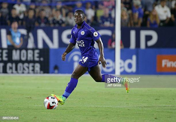 Nampalys Mendy of Leicester City in action against Paris SaintGermain during the 2016 International Champions Cup at StubHub Center on July 30 2016...