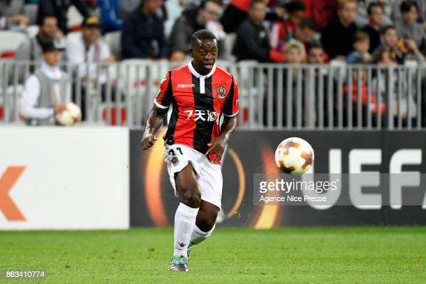 Nampalys Mendy of Nice during the Europa League match between OGC Nice and Lazio Roma at Allianz Riviera on October 19 2017 in Nice France